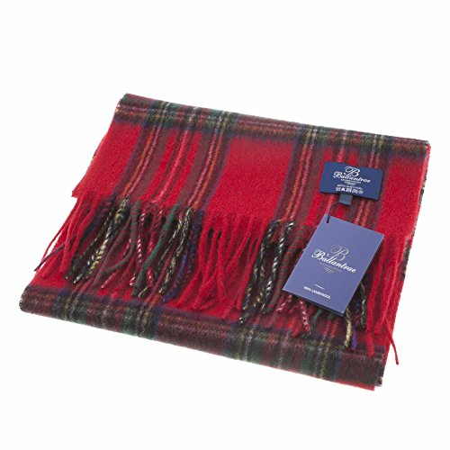 Royal Stewart Tartan (Ballantrae 100% Lambswool Tartan Scarf Stewart Royal (One)