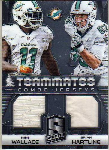 2014 Panini Spectra Teammates Combo Jerseys #14 Brian Hartline Mike Wallace Game-Worn Jersey Card Serial #'d/199