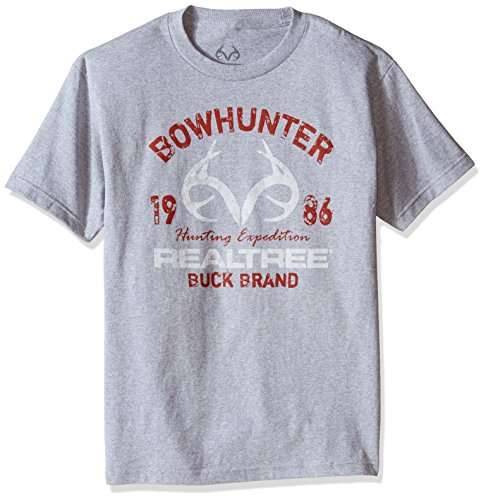 Realtree Bow Hunter Screen Print Tee, XX-Large, Athletic Heather Grey