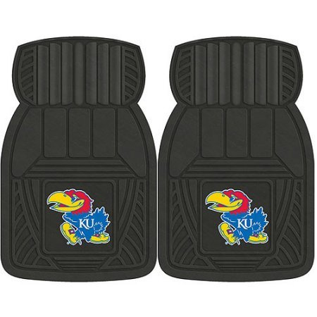 NCAA 4-Piece Front #36572589 and Rear #19888855 Heavy-Duty Vinyl Car Mat Set, University of Kansas by Sports Licensing Solutions LLC