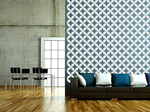 Elegant Geometric Wall Decals, Lattice Wall Decal, Retro Wall Decor, Diamond Wall  Decal,