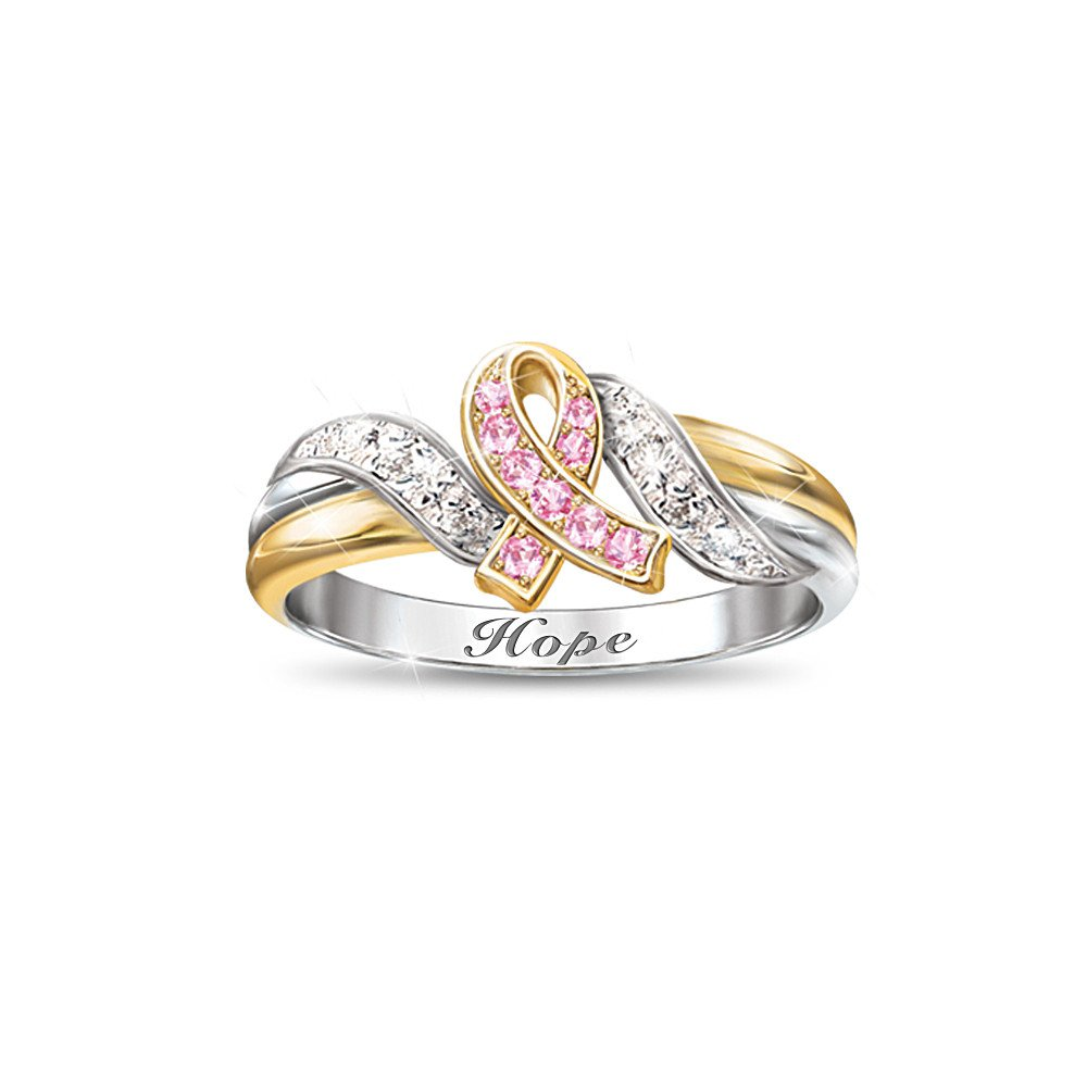 Engraved Women's Ring: Hope's Embrace by The Bradford Exchange