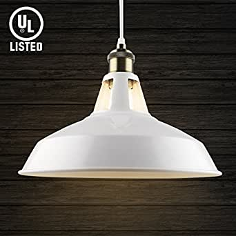 B2ocled retro kitchen pendant lighting over island metal white paint b2ocled retro kitchen pendant lighting over island metal white paint large hanging light fixture for bar mozeypictures Choice Image