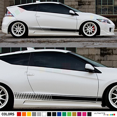 2x Decal Sticker Vinyl Side Racing Stripes Compatible with Honda CR-Z Hybrid Coupe - Z Cr Honda Hybrid Coupe