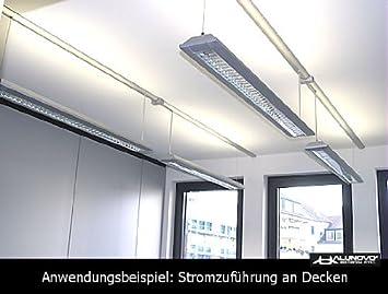 lunghezza 20 cm Canalina copricavi in alluminio effetto acciaio INOX spazzolato Alunovo