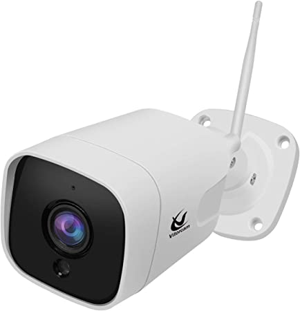 Vitorcam 5.0 megapíxeles 1920P H.265 Bullet IP Camera, Audio bidireccional, IP65 Impermeable al Aire Libre, Soporte PoE + Modo WiFi