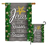 Ornament Collection S191076-BO Jesus is The Reason for The Season Winter Nativity Impressions Decorative Vertical House 28″ X 40″ Garden 13″ X 18.5″ Double Sided Flags Set Printed in USA Multi-Color Review