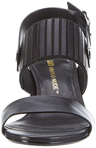 Women's Open Black Slingback Toe Zink Nude Sandals Mid United fwqZR761W