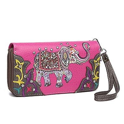 Western Handbag - Colorful Embroidered Elephant Satchel Purse