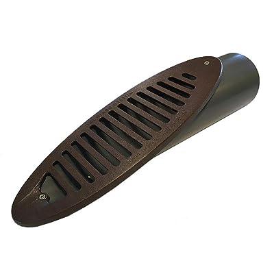 """4"""" PVC Sch. 40 Mitered Drain w/Brown HDPE Grate : Garden & Outdoor"""