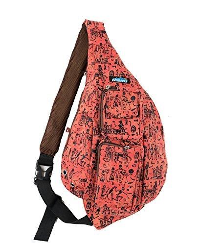 Meru - Small Backpack - Cross Body Bag, Sling Backpack Shoulder Bag for Women and Men (Aztec)