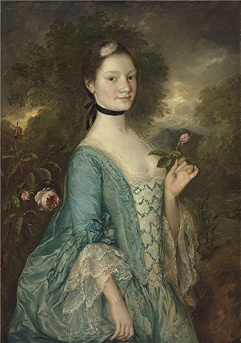 Oil Painting 'Thomas Gainsborough - Sarah, Lady Innes, C. 1757', 24 x 34 inch / 61 x 87 cm , on High Definition HD canvas prints is for Gifts And Bed Room, Foyer And Garage Decoration