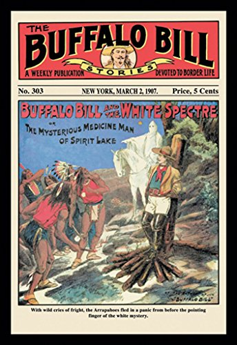 Buffalo Bill and the White Spectre - The Buffalo Bill Stories 1907, 12x18 Canvas Giclée, Gallery Wrap