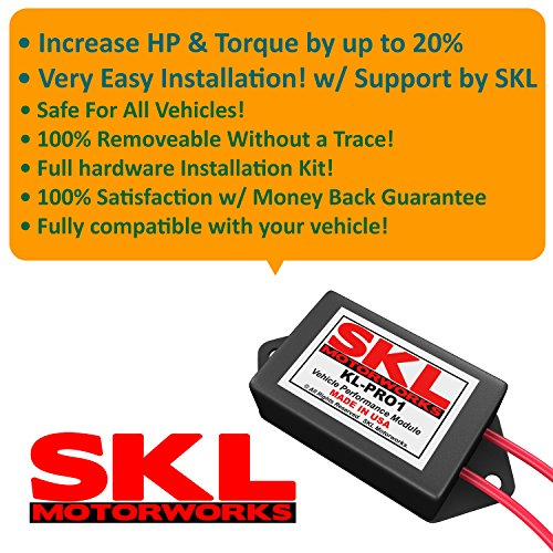SKL Motorworks Performance Chip KL-PRO1 for Land Rover Range Rover HSE 5L DOHC V8 385HP 4WD 6-speed Automatic Transmission Aftermarket Racing Performance Parts - Increase HP + Fuel Economy MPG Gas Saver