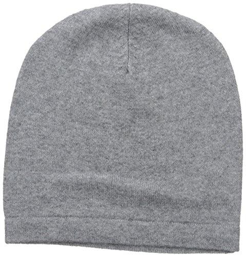 Phenix Cashmere 100% Cashmere Knit Slouchy Hat, Grey, One Size (Cashmere Hat)