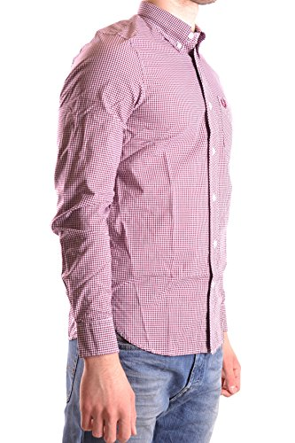 Fred Perry Homme MCBI128188O Rouge Coton Chemise