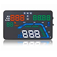 NikoMaku Car Hud GPS Q7 5.5 inch Head up Display Speedometer Overspeed Alarm Windshield Project Kmh/MPH Fuel Consumption Multicoloured