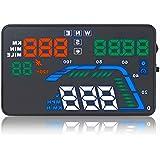 ニコマク NikoMaku HUD ヘッドアップディスプレイ GPS 【カラー 大画面 Q7 日本語説明書】 5.5インチ 車載スピードメーター 時速をフロントガラスに 過速度警告搭載 反射フィルム付き