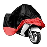 HomeLife Elements XXXL & Lockholes All Season Black Waterproof Sun Motorcycle Cover Waterproof UV Protection Heat,Fits up to 108