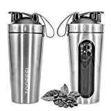 TOOFEEL 28oz 800ml Stainless Steel Protein Shaker Bottle...