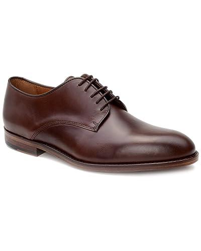 Warfield Grand Holloway Minimalist Derby Dress Shoe In Brown