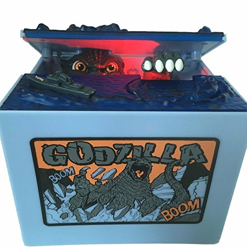 Cool Musical Automatic Godzilla Bank Stealing Coin Moving Dinosaur Monster Electronic Money Bank Godzilla Piggy Bank Birthday Toy Gifts    Godzilla Bank