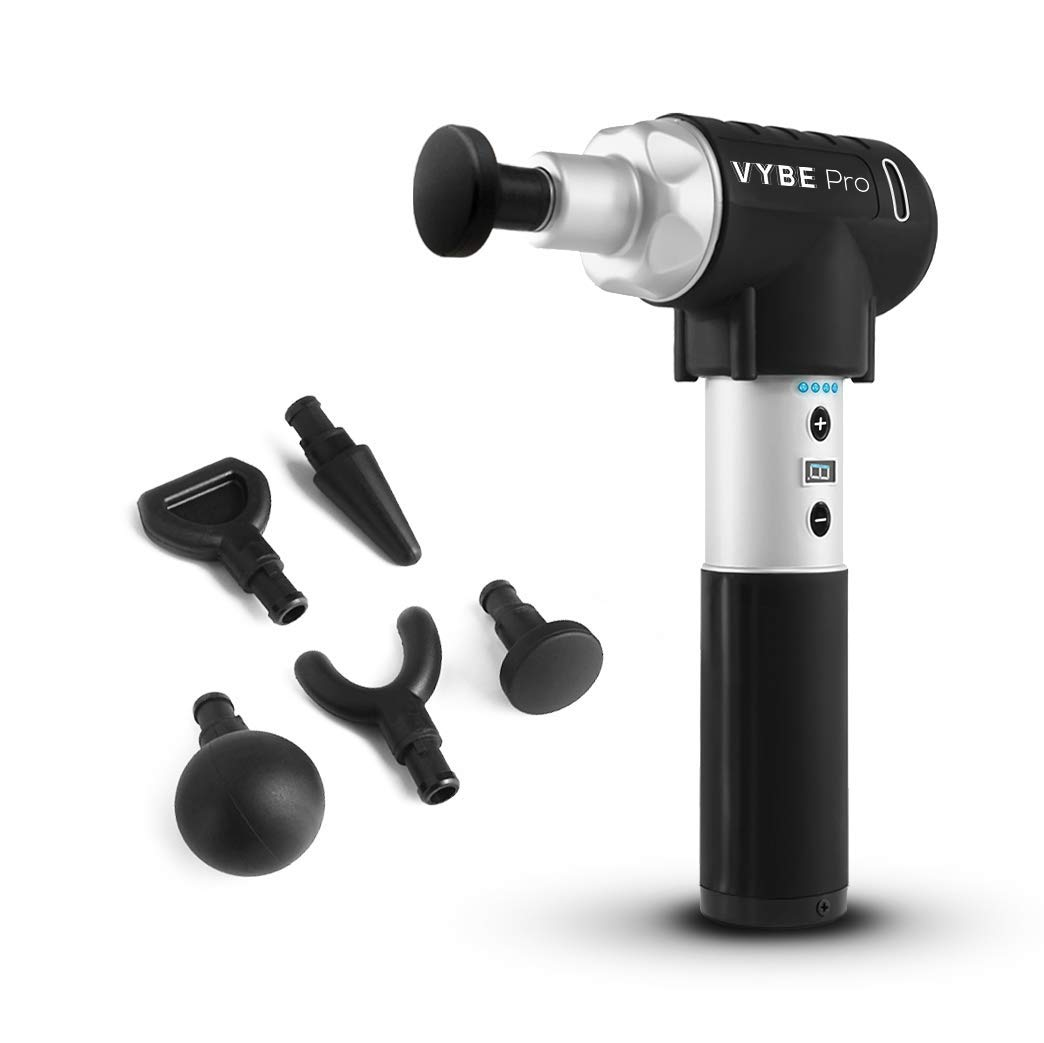 Quiet Professional Percussion Massage Gun - Vybe PRO Handheld Deep Muscle Massager by Exerscribe