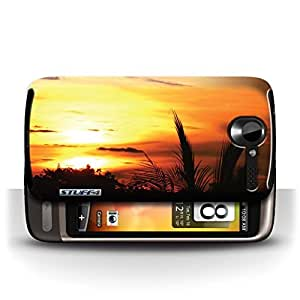 KOBALT? Protective Hard Back Phone Case / Cover for HTC Desire G7 | Tree Tops Design | Sunset Scenery Collection