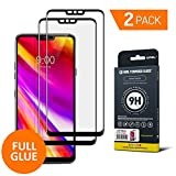 LG G7 ThinQ Screen Protector Glass, GPEL [2-Pack] [Full Glue] [Case Friendly] Real Tempered Glass HD Clear Bubble Free Easy Installation 9H Hardness, Premium Japanese Asahi Tempered Glass