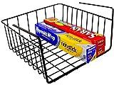 DecoBros Under Shelf Basket Wrap Rack, Bronze