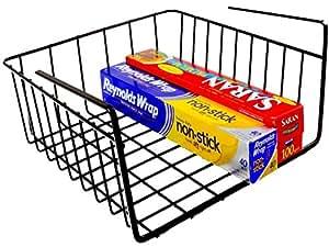 Decobros under shelf basket wrap rack bronze for Under shelf basket wrap rack