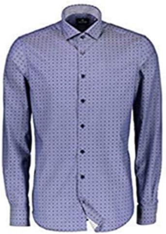 LERROS Hombre Camisa Manga Larga Azul Marino - Azul Marino ...