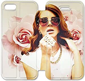 Flip Folio Leather Case for iPhone 5 5s Cell Phone Case Lana Del Rey HPM4617602