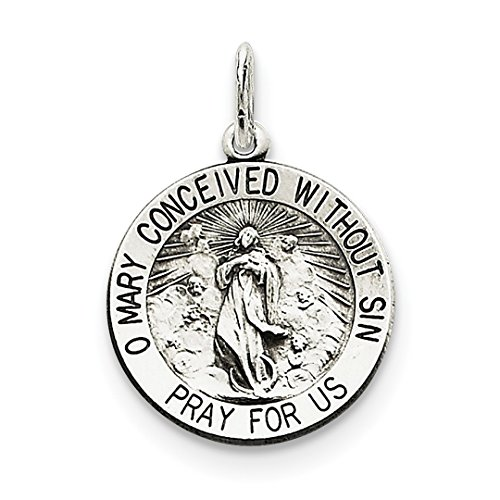 ICE CARATS 925 Sterling Silver Blessed Mother Medal Pendant Charm Necklace Special Person Religious Mary Fine Jewelry Ideal Gifts For Women Gift Set From Heart