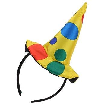 Women/'s Mini Clown Headband Circus Carnival Fancy Dress Costume Hat Accessory
