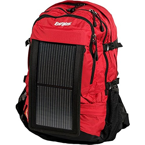 Energizer PowerKeep Wanderer Daypack Solar Charging Backpack - Red by Energizer