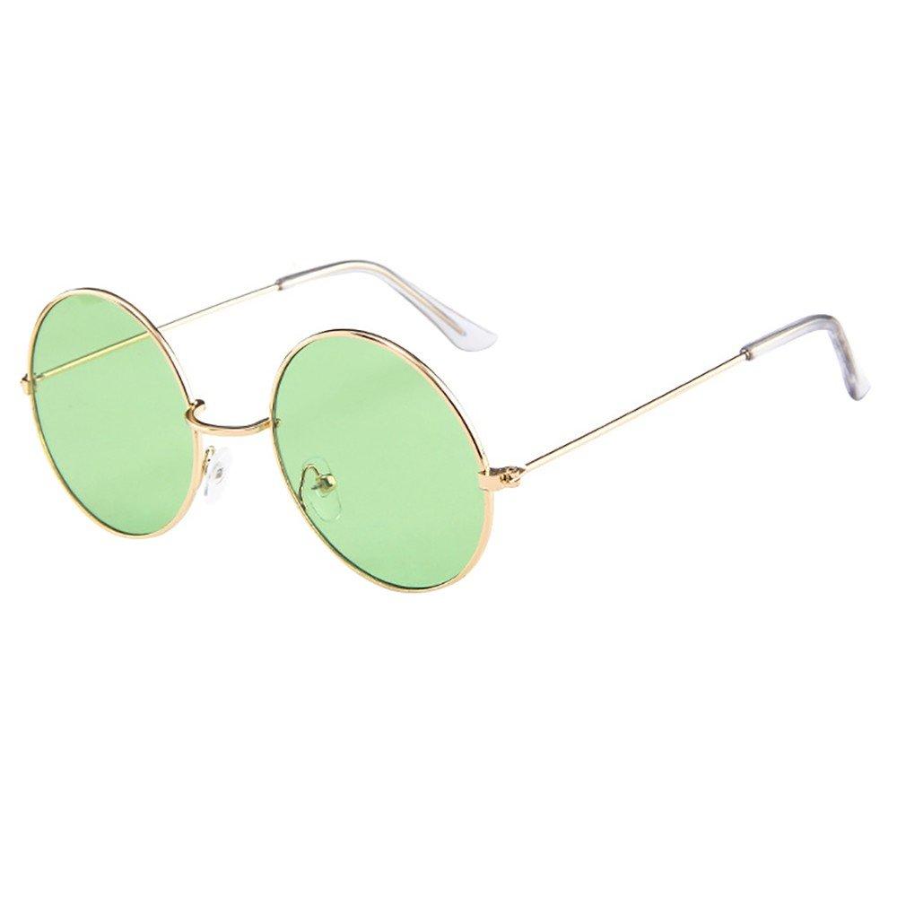 POHOK Eyewear - Women Men Vintage Retro Unisex Driving Round Frame Sunglasses Glasses
