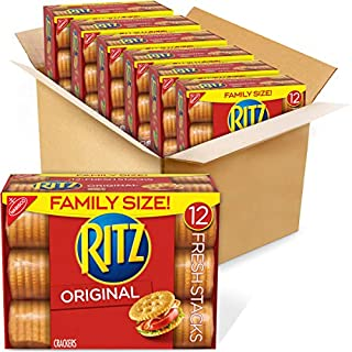RITZ Fresh Stacks Original Crackers, Family Size, 6 - 17.8 oz Boxes