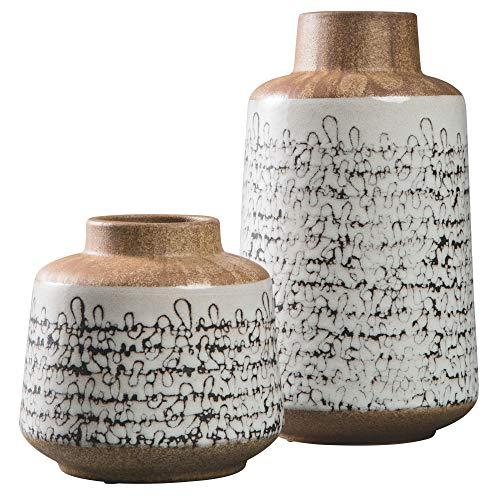 Ashley Furniture Signature Design - Megan Vase Set - Tan/Black