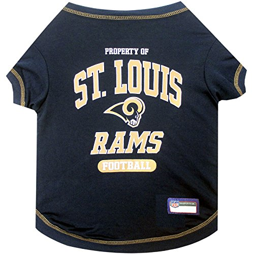 - NFL LOS ANGELES RAMS Dog T-Shirt, Small. - Cutest Pet Tee Shirt for the real sporty pup