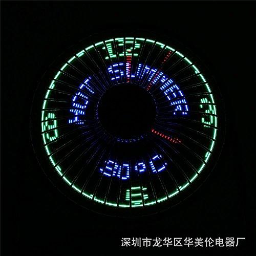 MAFYU Small iron fan, USB portable, LED display clock
