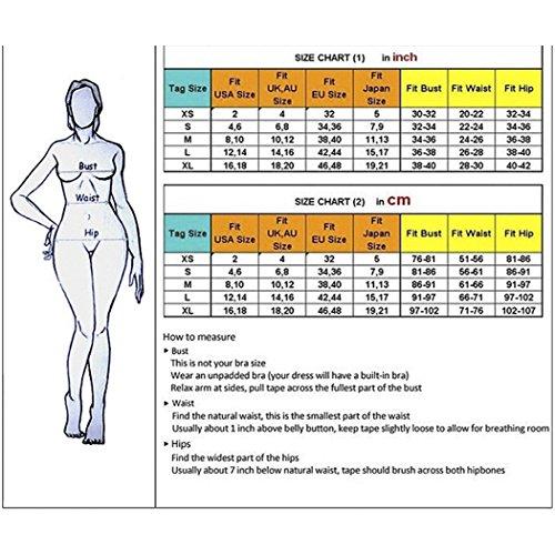 VENI MASEE Damen Reine Farbe Bandagen Bikini Mode Bikini Badeanzug(S-L) Gelb Bzf0Lr