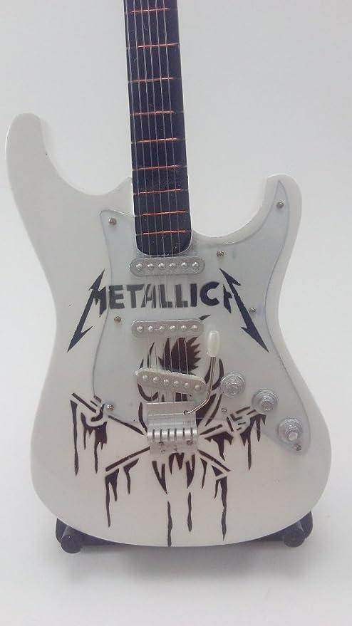 Guitarra Miniatura Colección - Mini Guitarra Metallica - Miniaturas de Guitarras de Grupos musicales Famosos para