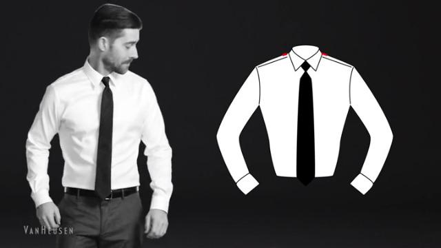 Van Heusen Men's Dress Shirt Flex Regular Fit Solid 6