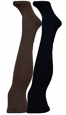 2ebe3bbb1c84fe Star Power by SPANX Center-Stage Reversible Shaping Tights at Amazon  Women's Clothing store: