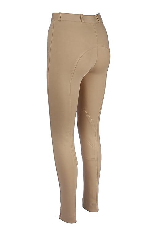 3d87f3ab73d662 Discount Pet Accessories Pantaloni jodhpur da equitazione da donna, morbidi  ed elasticizzati, beige,
