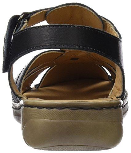 Coronel Donna Negro 0 Nero negro Tapioca Scarpe Señora Cinturino Con Sandalia rwvrqEx0f