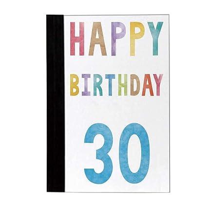 Cuaderno elegante para decoración de cumpleaños número 30 ...
