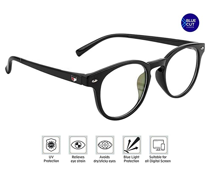0920c8748e Image Unavailable. Image not available for. Colour  Eye Protection  Spectacle Blue Ray and Uv420 Cut Glasses with Full Rim Oval Frame