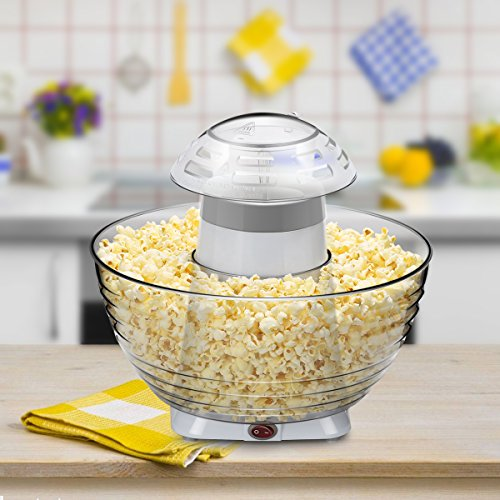 Excelvan Homemade Air-pop Popcorn Maker with Quick and Safe Operation, Popper Corn Machine with Removable Plus Bowl Suitable for Families Enjoyment, Party (White) by Excelvan (Image #7)
